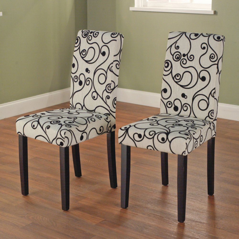 & Amazon.com - Olivia Parson Chair Black Set of 2 - Chairs