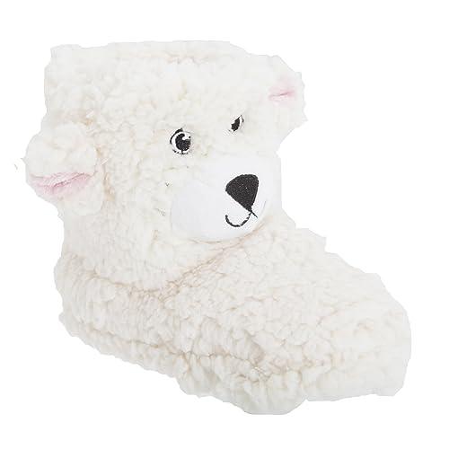 Botines de estar por casa con diseño de oso de peluche para niños (29/30/Crema): Amazon.es: Zapatos y complementos