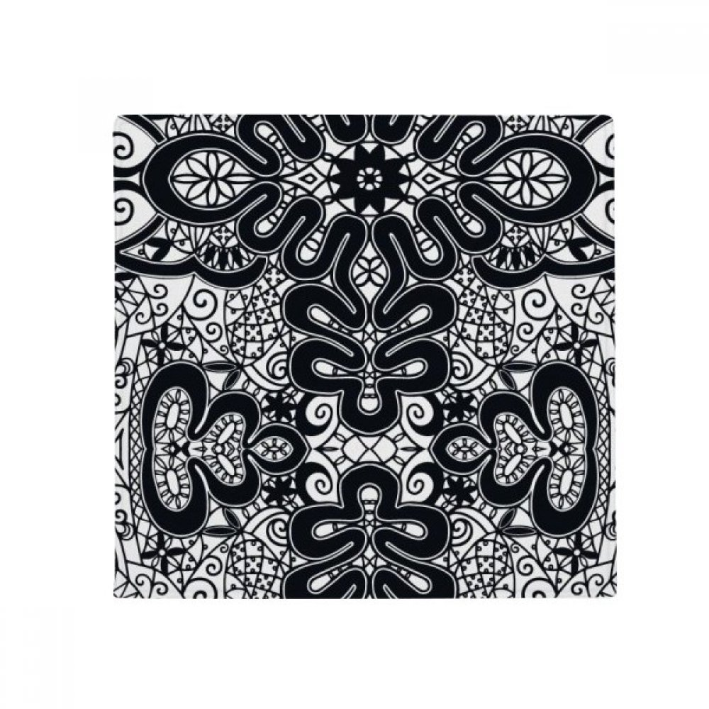 DIYthinker Europe Black White Patternrococo Style Anti-Slip Floor Pet Mat Square Home Kitchen Door 80Cm Gift