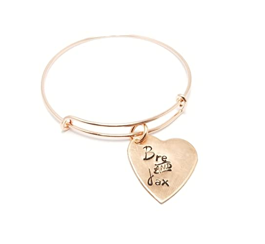 32746b94c61cd Amazon.com: Rose Gold Personalized Heart Love Valentines Mothers ...