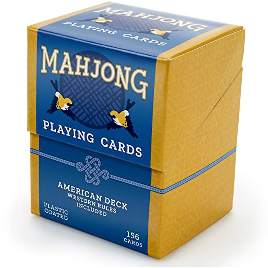 Includes Rules and Storage Box by Brybelly SG/_B07C812T78/_US American Mahjong Playing Cards 156-Card Deck for Chinese and Western Game Play