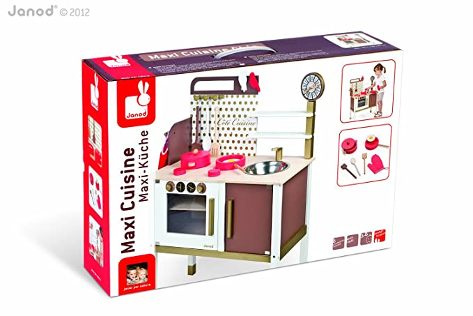 Amazon.com: Janod Chic Maxi Cooker (Brown): Toys & Games