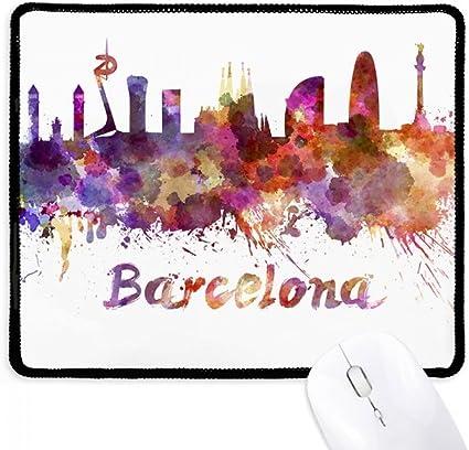 Barcelona España City Watercolor - Alfombrilla antideslizante para ...