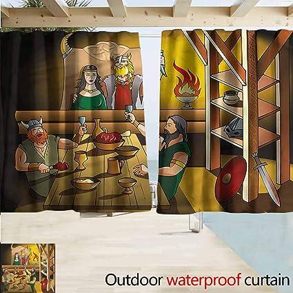 Amazon.com : Rod Pocket Blackout Curtain Panels Cartoon King ...