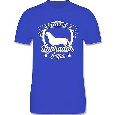 Hunde - Stolzer Labrador Papa - S - Royalblau - L190 - Herren T-Shirt