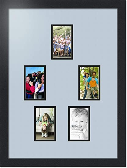 b630e44e4ddc Buy Art to Frames Double-Multimat-898-860 89-FRBW26079 Collage Photo Frame  Double Mat with 5-3x5 Openings and Satin Black Frame Online at Low Prices  in ...