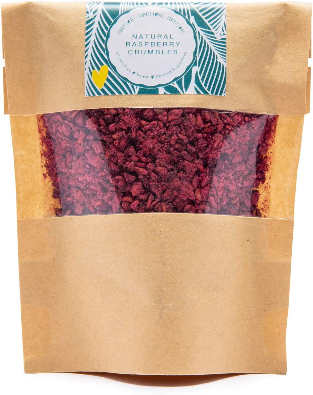 Liberty Loves Raspberry Natural Dehydrated Fruit Crumbles & Powders (50g)