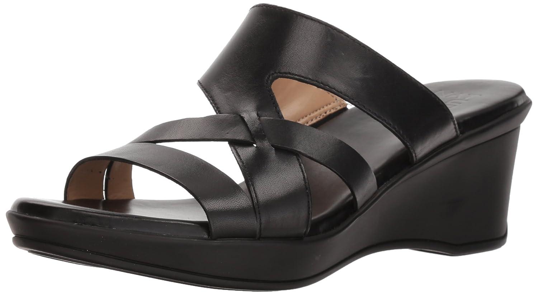 Naturalizer Women's Vivy Wedge Sandal B0787HGWQH 6 W US|Black