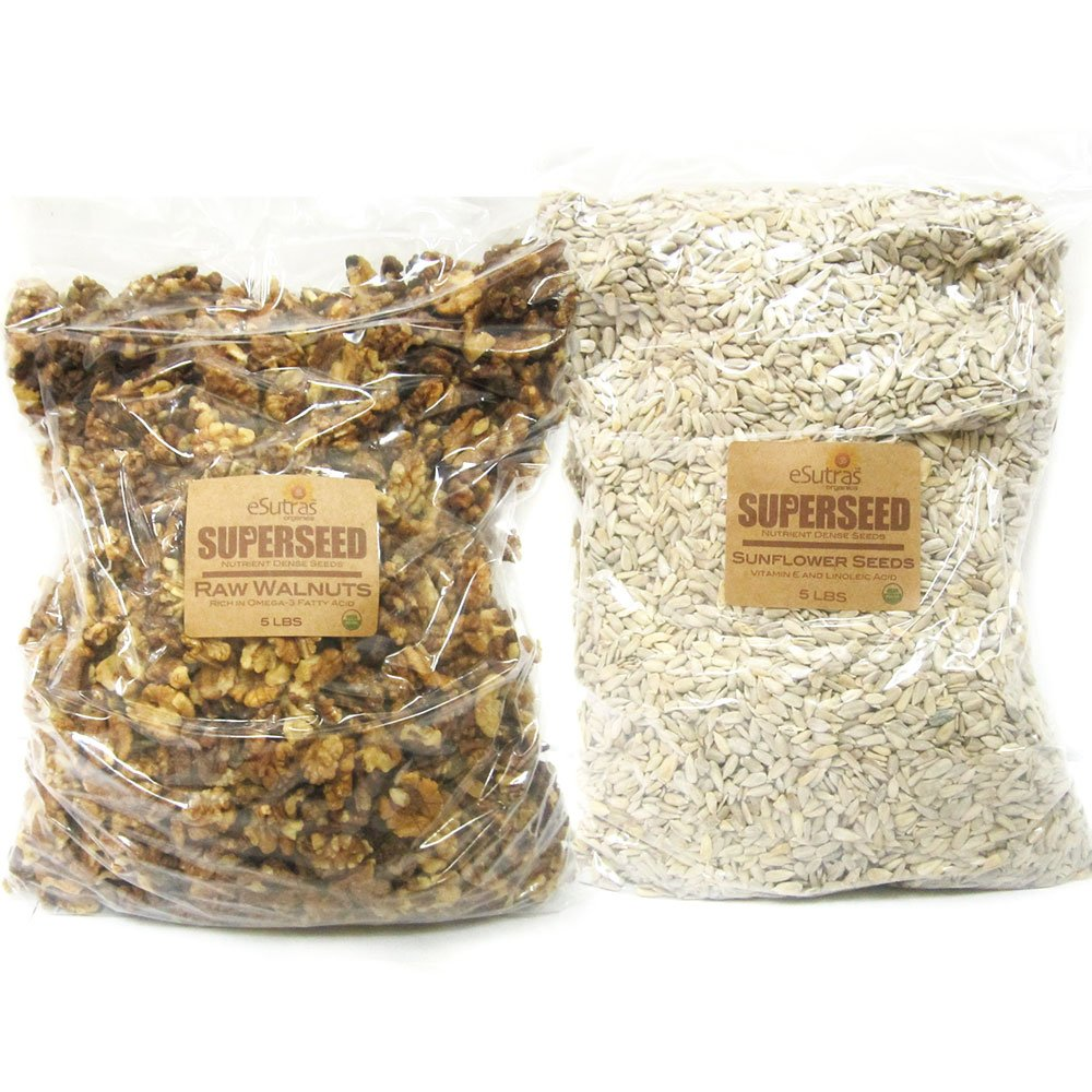 eSutras Organics Super food Nuts and Seeds, Walnut-Sunflower, 10 Pound by eSutras Organics