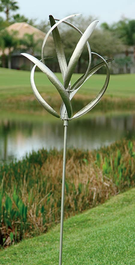 Exceptionnel Marshall Home And Garden Cheyenne Wind Spinner, Silver