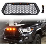 Haitzu Grill for Toyota Tacoma 2016 2017 2018 2019 2020 TRD Pro, SR5, TRD Off-Road, TRD Sport, SR and Limited with 3…