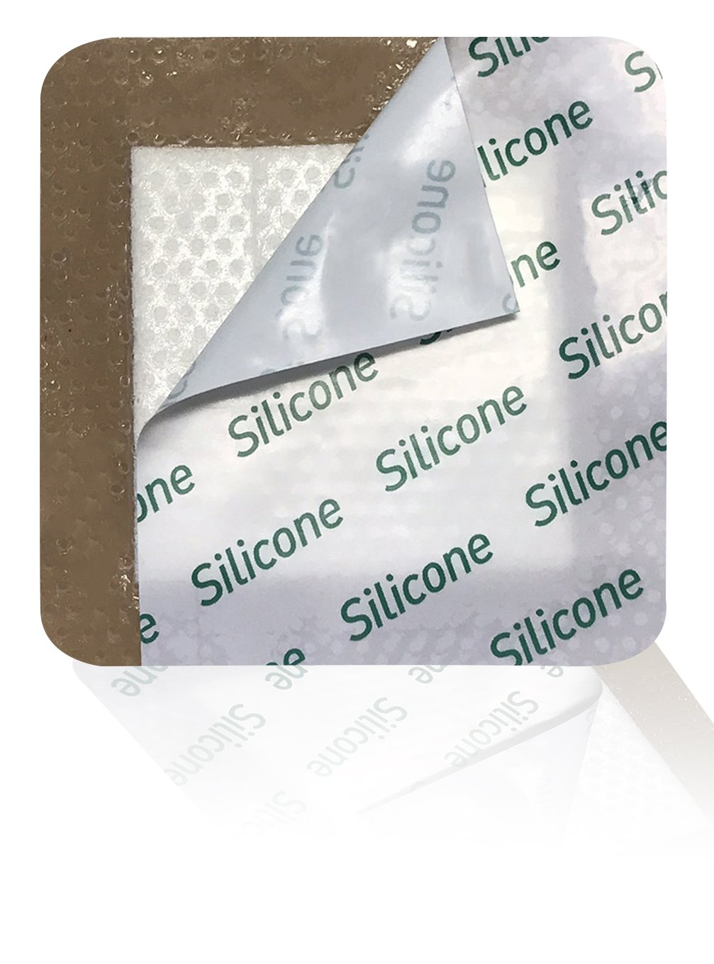 MedVanceTM Silicone - Bordered Silicone Adhesive Foam Dressing, Size 3''x3'', (1.8''x1.8'' pad), Box of 5 dressings