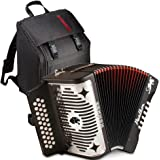 Hohner Panther FBE (FbBbEb) Accordion - 3100 Bundle w/GigBag,strap and booklet