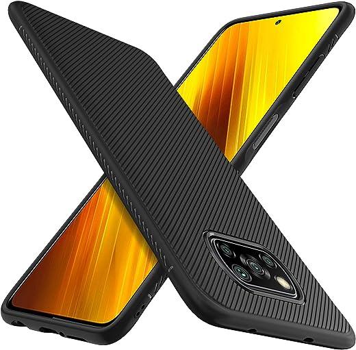iBetter Diseño para Xiaomi Poco X3 NFC Protectora Funda,Fina de Silicona [Resistente a los arañazos ] Funda para Xiaomi Poco X3 NFC Smartphone. (Negro)