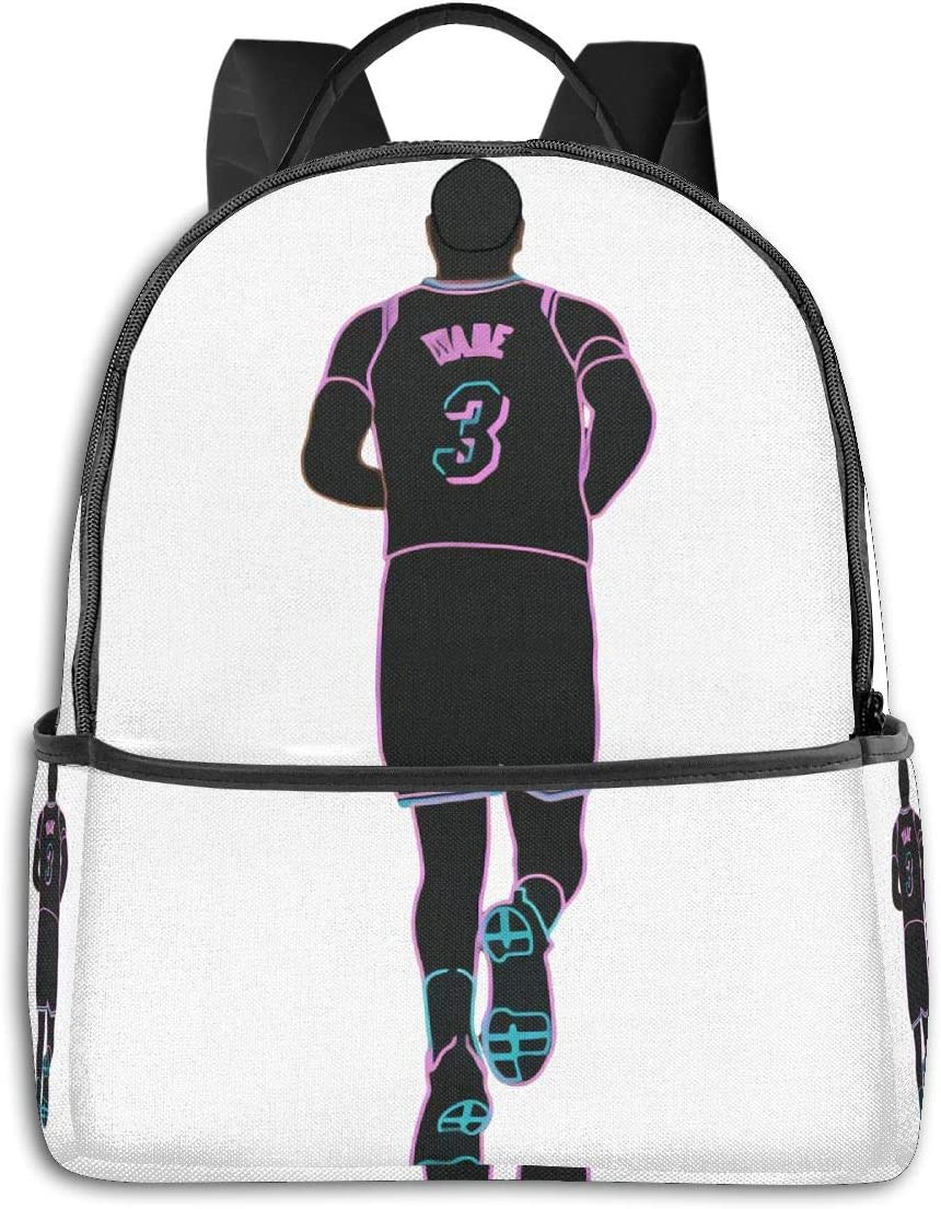 D-Wade 3 Miami Vice Neon Laptop Backpack Fashion Theme School Backpack