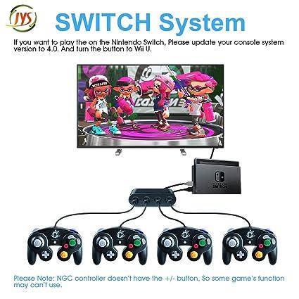 Wii U Gamecube Controller-Adapter, SHANSHUIYIPIN NGC Controller-Switch, Gamecube-Controller Adapter für Wii U, PC USB und Swi