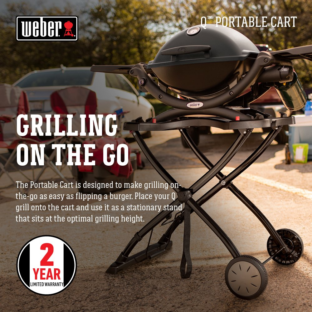 Amazon.com : Weber 6557 Q Portable Cart for Grilling : Outdoor Grill ...