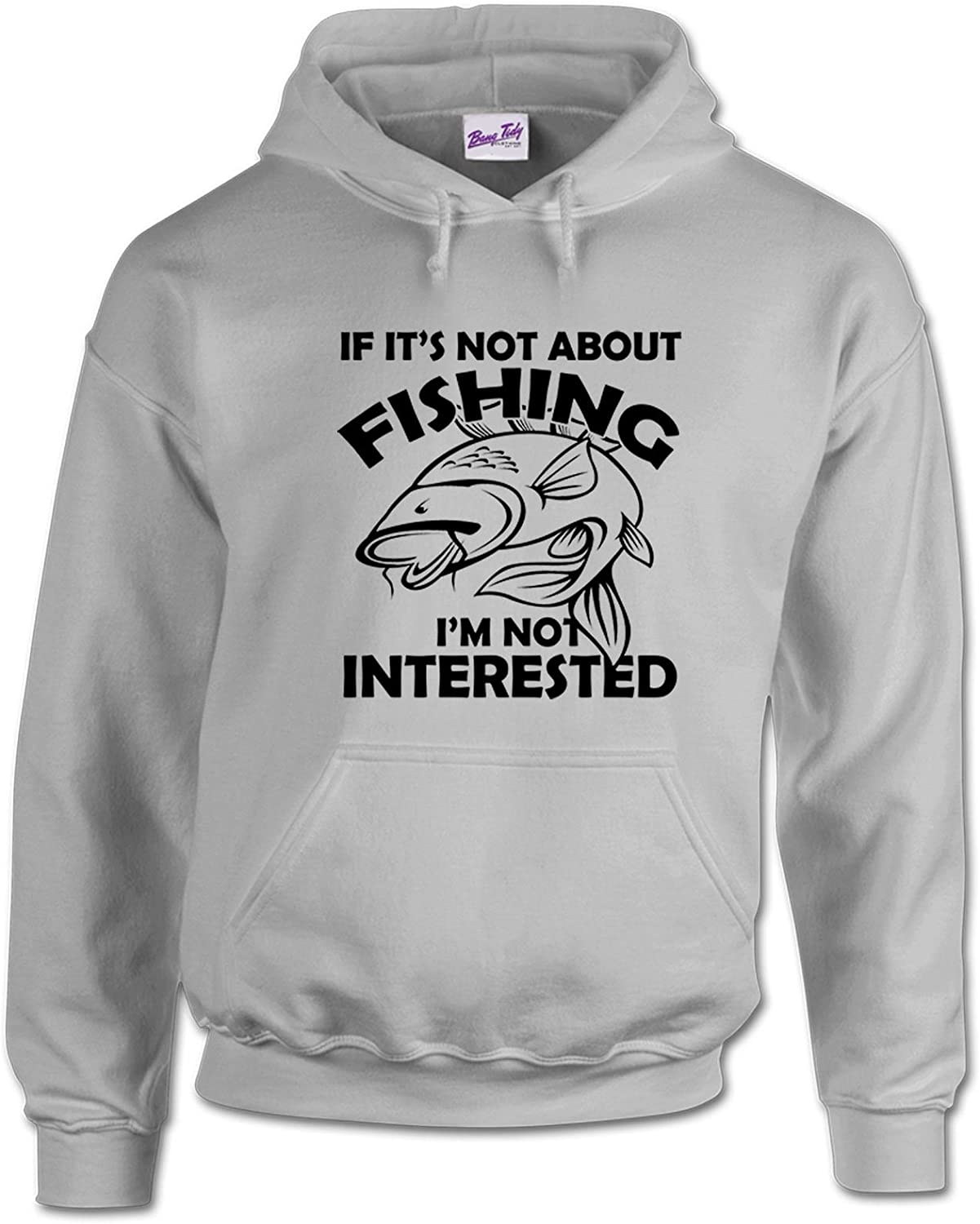 Fishing Hoodies Fishermen Gifts for Men Anglers Carp Clothing Its not-SPGR-XXL Grey