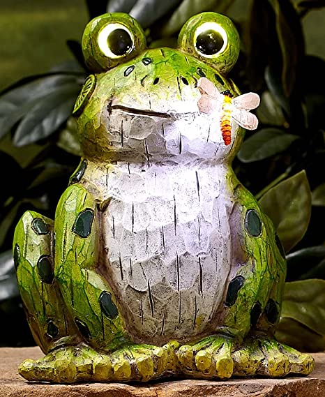 The Lakeside Collection Solar Garden Statues Frog