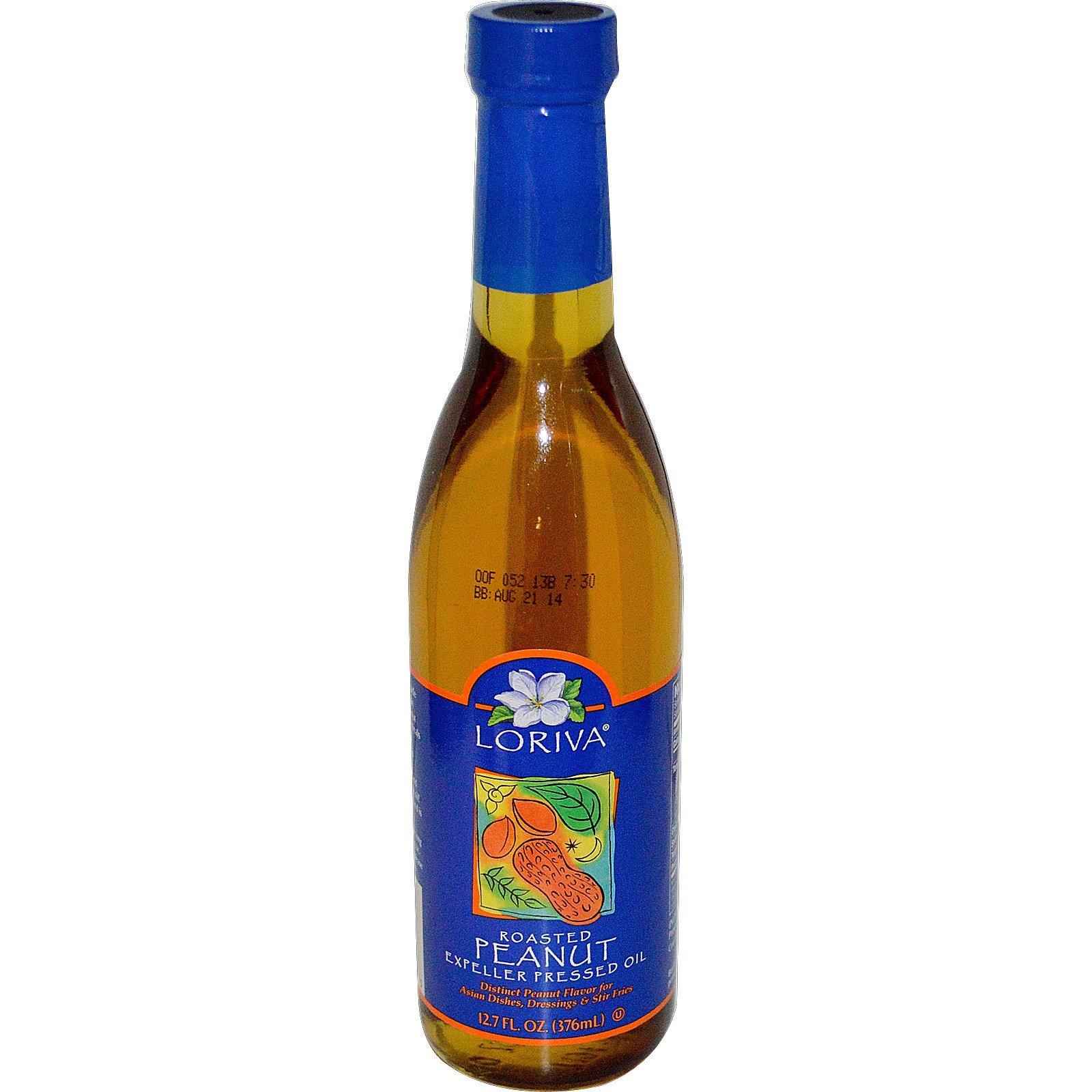 Loriva, Roasted Peanut Expeller Pressed Oil, 12.7 fl oz (376 ml) - 2PC