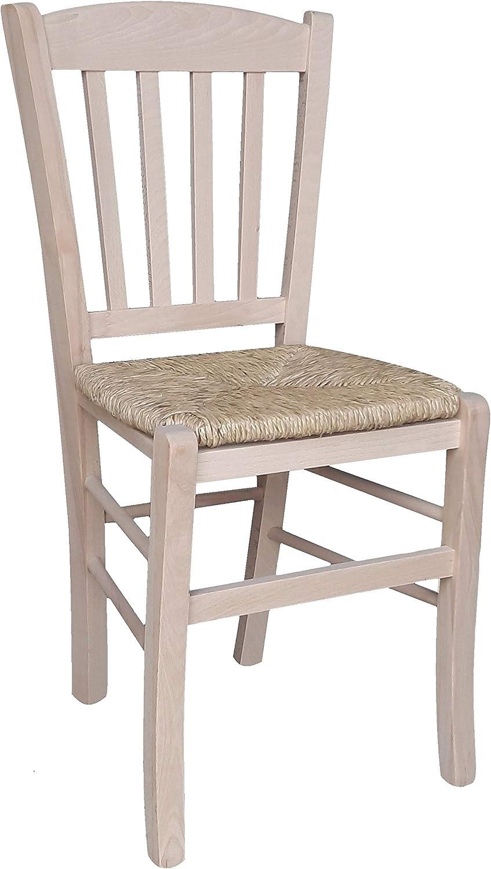 Veneta Chaise en bois brut à peindre: Amazon.fr: Bricolage