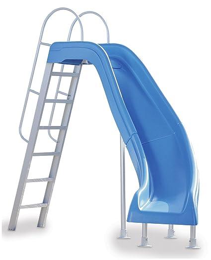 Outdoor pool with slide Custom Image Unavailable Fox Pools Amazoncom Interfab City2crb Water Pool Slide City Slide Blue