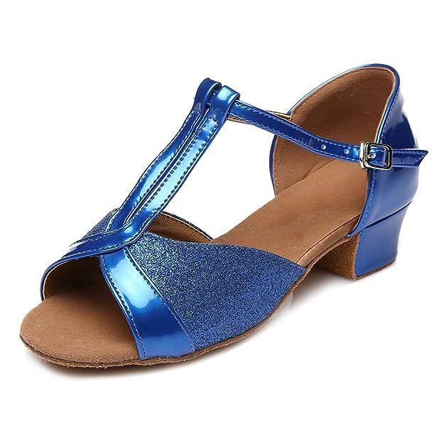 HROYL Mädchen Tanzschuhe/Latin Dance Schuhe Satin Ballsaal Modell-DS-305:  Amazon.de: Schuhe & Handtaschen