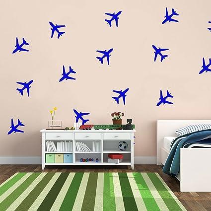 Amazon.com: Set of 20 Vinyl Wall Art Decals - Airplanes Patterns - 5 ...