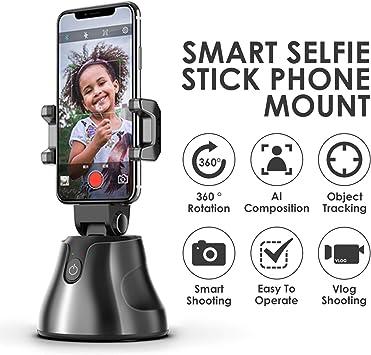 Bluetooth Smart Selfie Stick, empuñadura de teléfono inalámbrico, Seguimiento de Objetos de Alta tecnología, Soporte para teléfono con cámara de rotación de 360 Grados para Andriod iOS: Amazon.es: Electrónica
