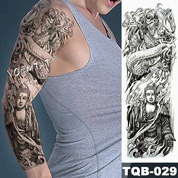 Tatuaje de pierna de brazo completo de transferencia de agua ...