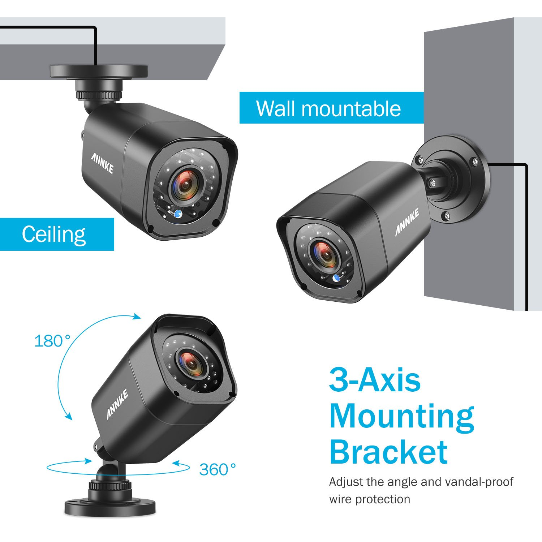 Proper P-SIK2ACS-1 Kit con 2 c/ámaras de vigilancia CCTV//modelo Met/álico Set de 2 Piezas