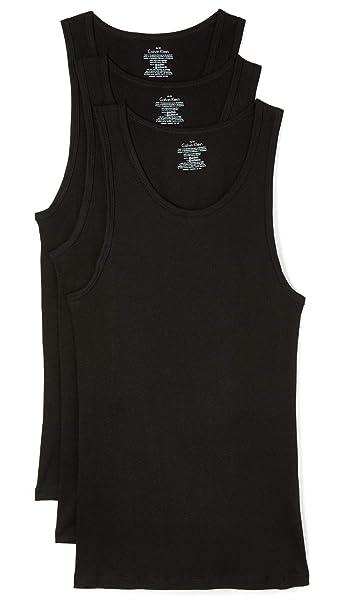 0ae15b63188c64 Calvin Klein Men s 3-Pack Cotton Classic Rib Tank  Amazon.ca ...