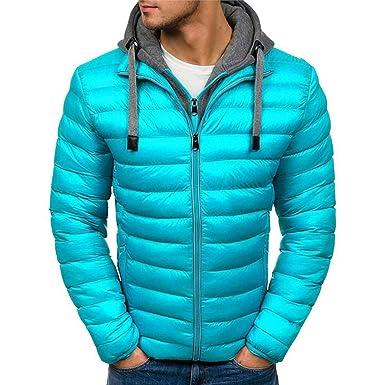 Amazon.com: Thick Velvet Down & Parka Coat Winter Jacket Men ...