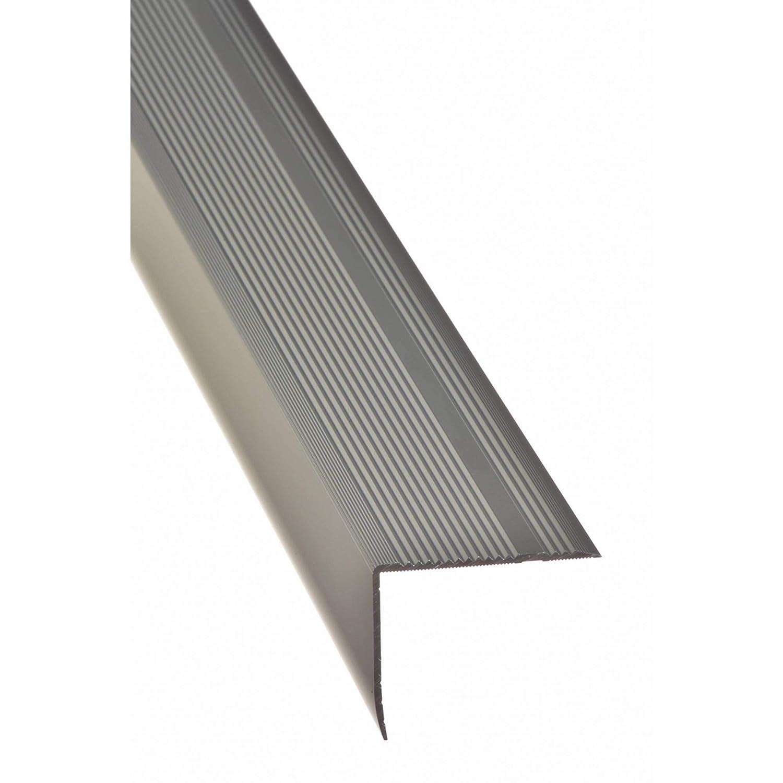 Robust Treppenstufen-Profil Alu Selbstklebendes Treppenkanten-Profil 135cm 42x40mm bronze dunkel acerto 51131 Aluminium Treppenwinkel-Profil Leichte Montage Treppenkanten-Profil Rutschhemmend