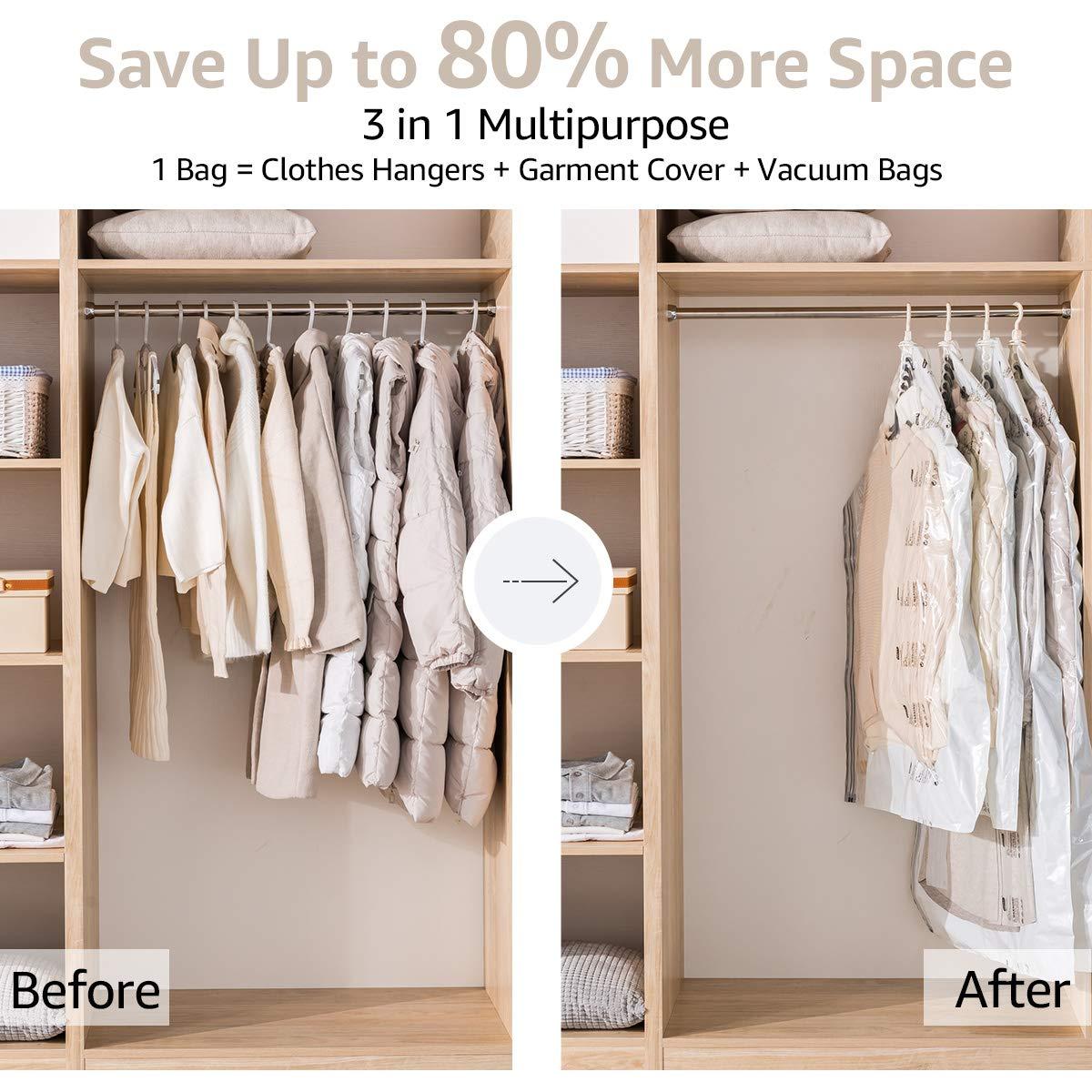 Amazon.com: Bolsas de almacenamiento para ahorrar espacio ...
