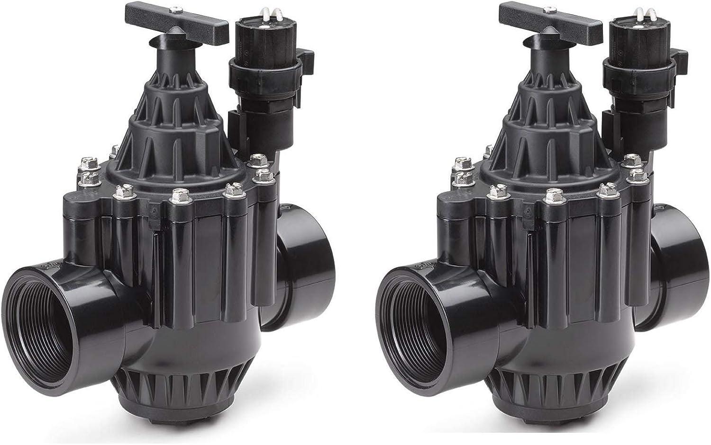 Rain Bird 100PGA 1 Inlet Inline Plastic Commercial Irrigation Valve 2 Pack