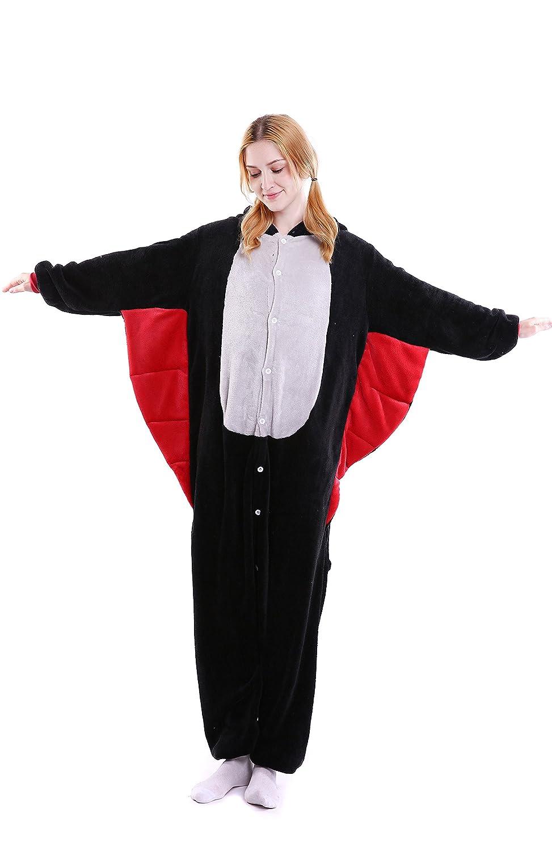 Elonglin Adult Unisex Pajama Onesie Flannels Costume Hooded Sleepsuit Sleepwear EL.SY0393