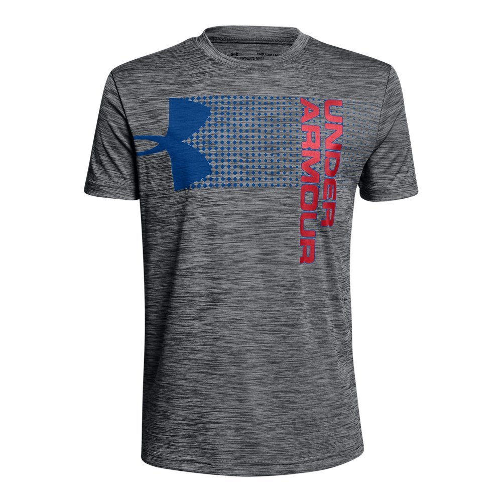 Under Armour Boys' UA Crossfade T-Shirt YSM Graphite by Under Armour (Image #1)