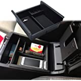 JKCOVER Center Console Organizer Tray Compatible with Toyota 4Runner 2010-2020 4Runner Accessories,Insert Armrest Box Secondary Storage ABS Black Materials