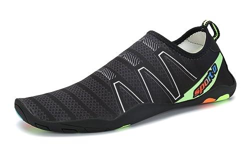 Chaussures De Chaussures D'eau Dogeek Pantoufles Surf Plage Chaussures De Plage Pour Les Hommes (43 Femmes, Noir)