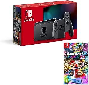 Nintendo Switch Consola 32Gb Gris + Mario Kart 8 Deluxe
