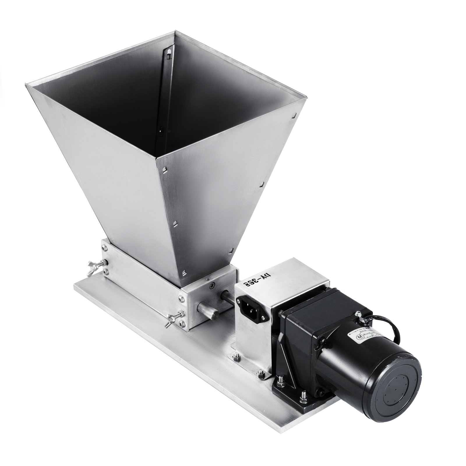 Happybuy Grain Mill Homebrew 2 Roller Barley Grinder 13-22lbs/h Grain Mill Electric 40PRM Malt Grain Mill for Grinding Various Grains Spice (Electric)