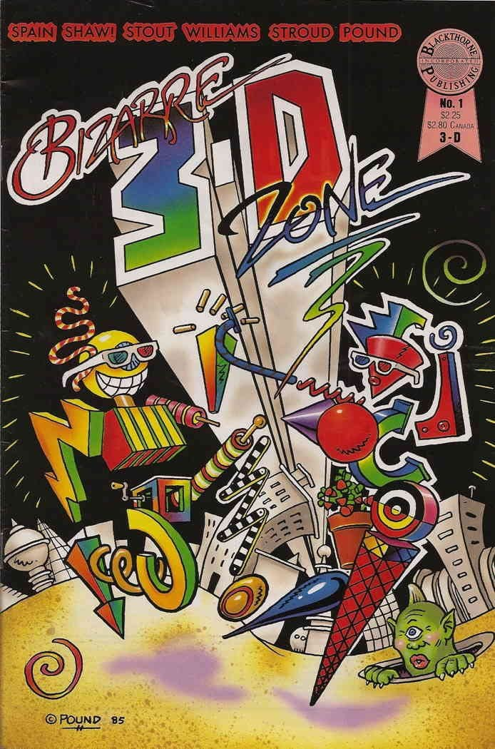 Bizarre 3-D Zone #1 FN 1986 Stock Image
