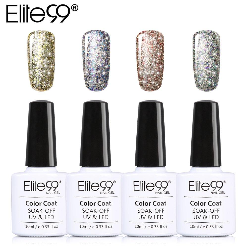 Amazon.com : Elite99 Platinum Gel Nail Polish Set Soak Off UV LED ...