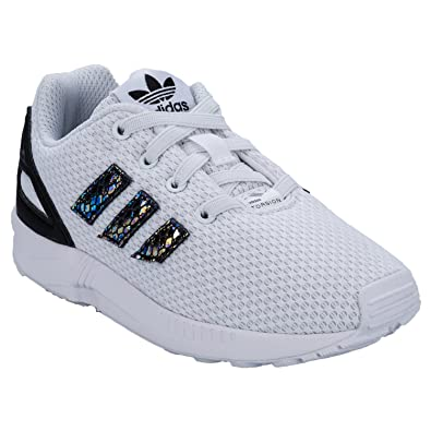 46da84f90d7cd adidas Originals Infant ZX Flux Trainers - 3K White  Amazon.co.uk ...