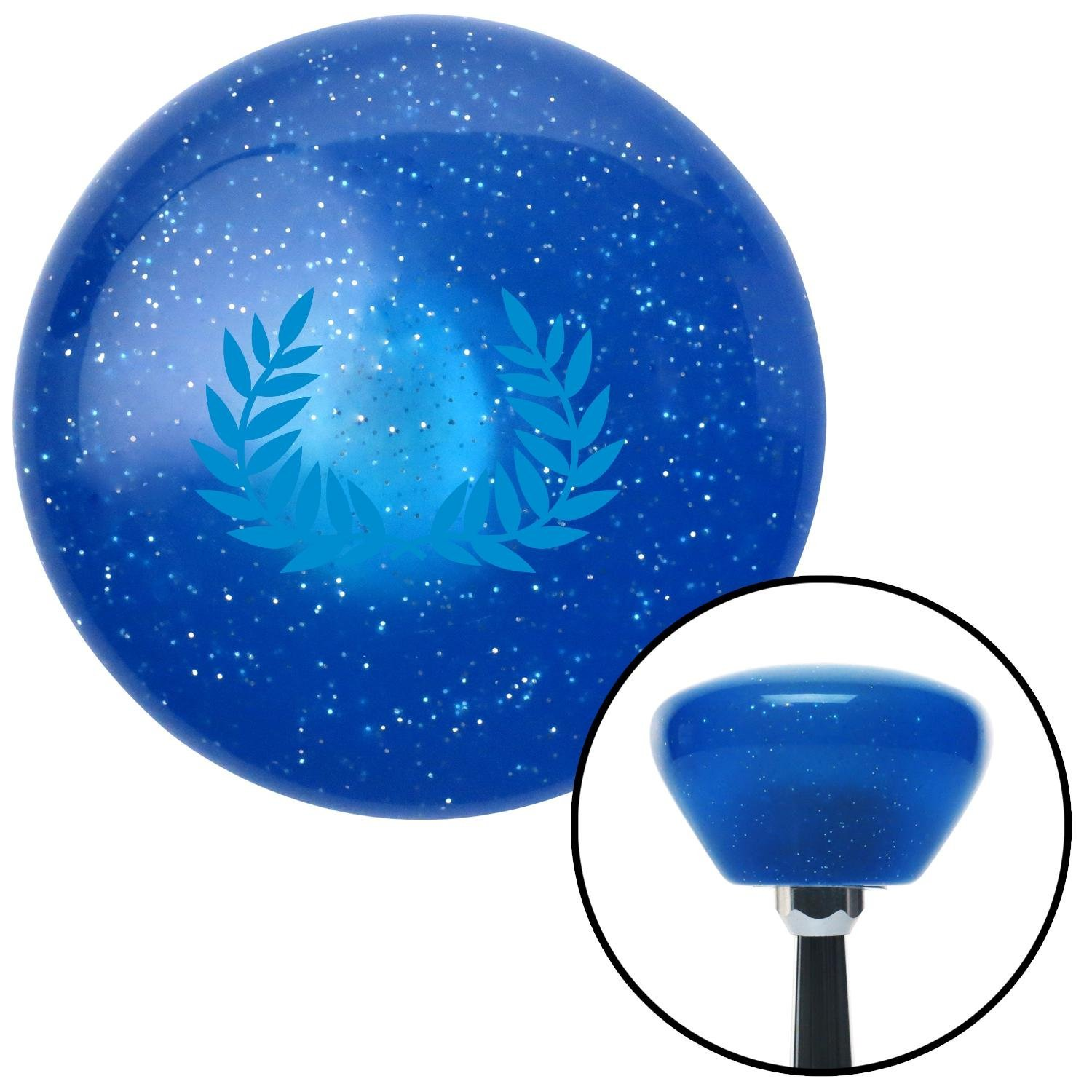 Blue 2 Branches Pointing Up American Shifter 186980 Blue Retro Metal Flake Shift Knob with M16 x 1.5 Insert
