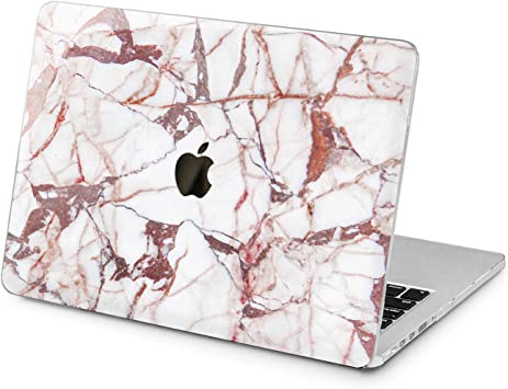 Pink Cracked Stone Marble Hard Cover Case For Macbook Pro Retina Air 11 12 13 15