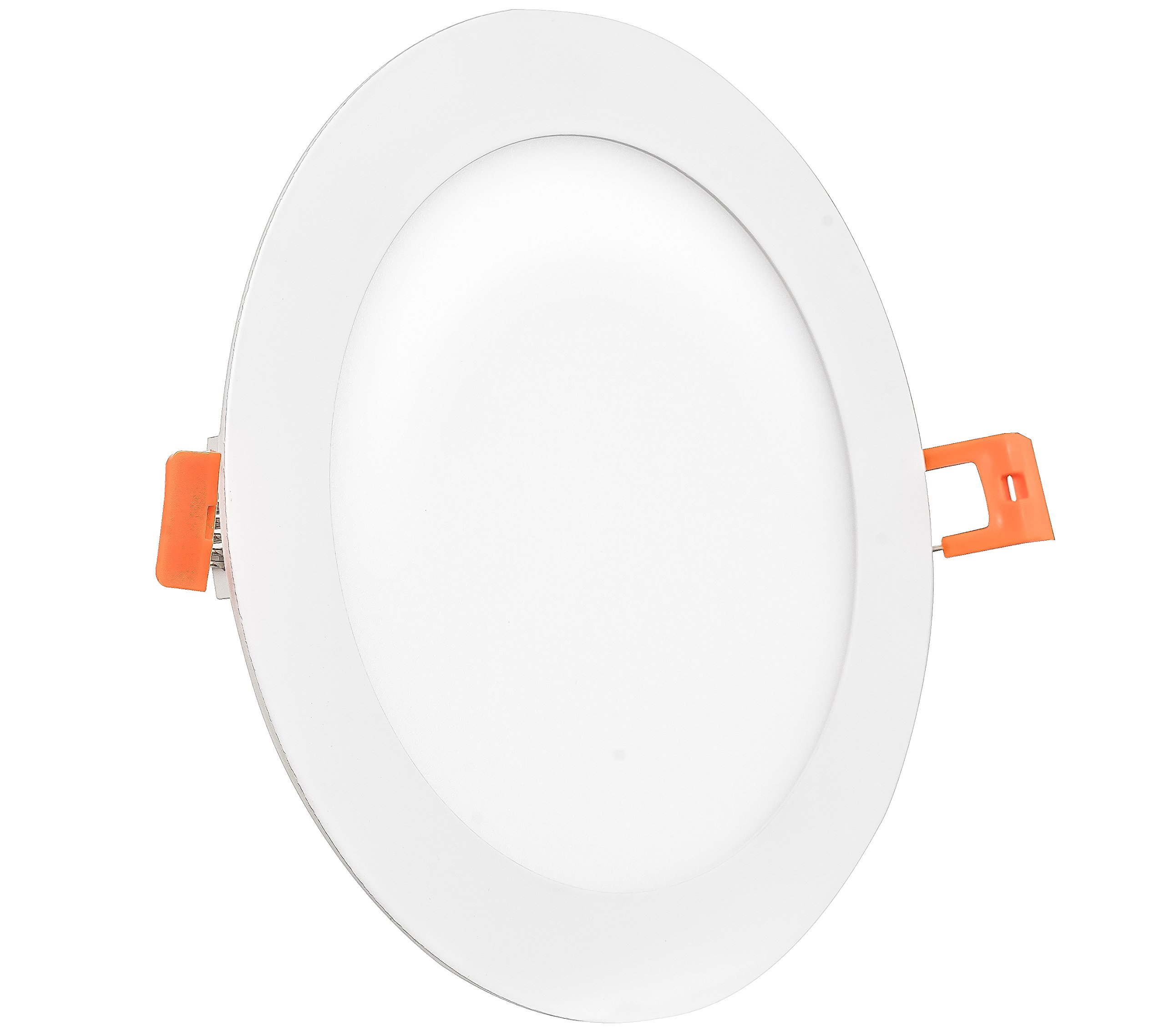 Westgate 18W 8 Inch Ultra Slim Recessed Light With Junction Box Included - Dimmable - No Housing Required - 120V- Damp Location Rated - Energy Star - 5 Year Warranty(1, 4000K Natural White)