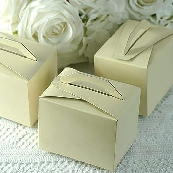 """6 X 50th Dorado Diseño De Boda Blanco Pastel Cajas de Regalo 5/"""""""