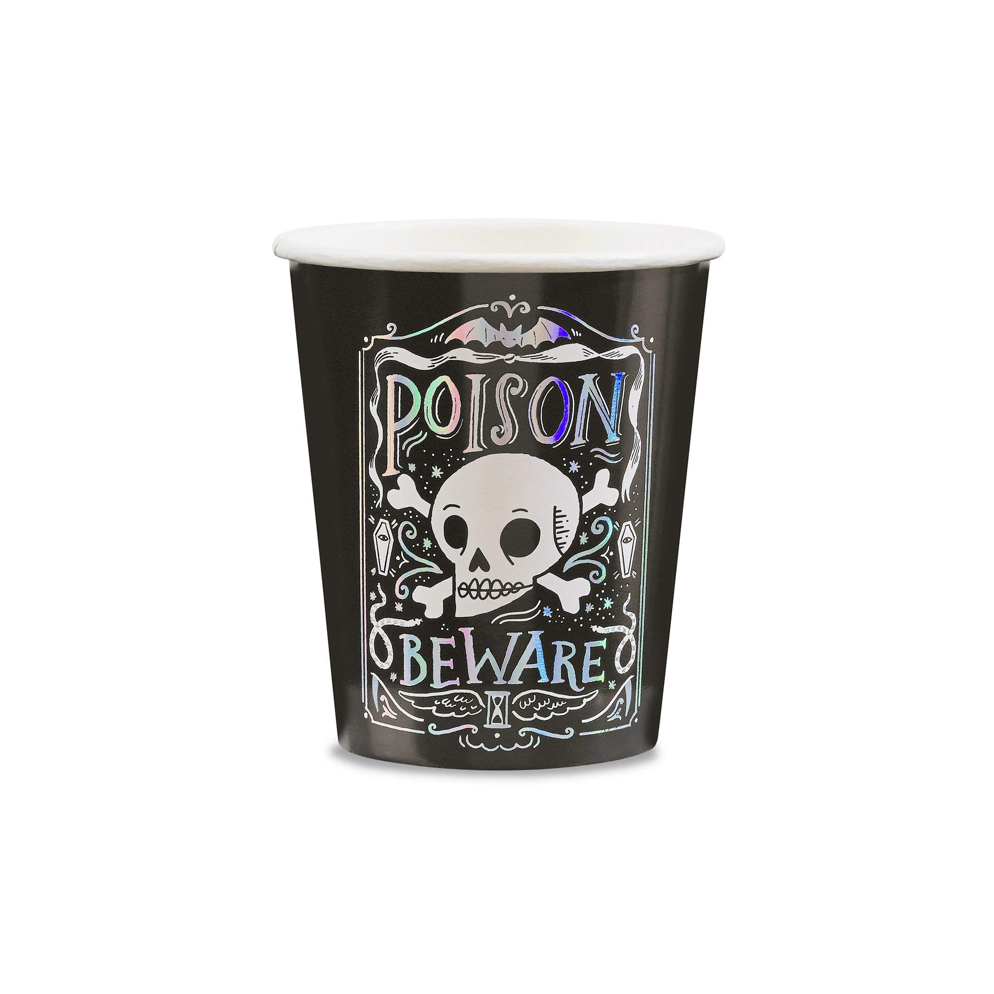 Daydream Society Doomsday Skull Halloween Paper Party Cups, Pack of 8